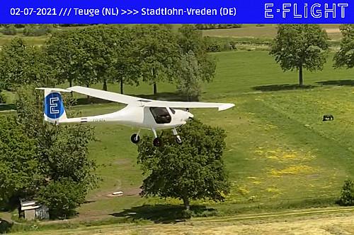 Nederlandse startup E-Flight Academy maakt eerste elektrische vlucht naar het buitenland